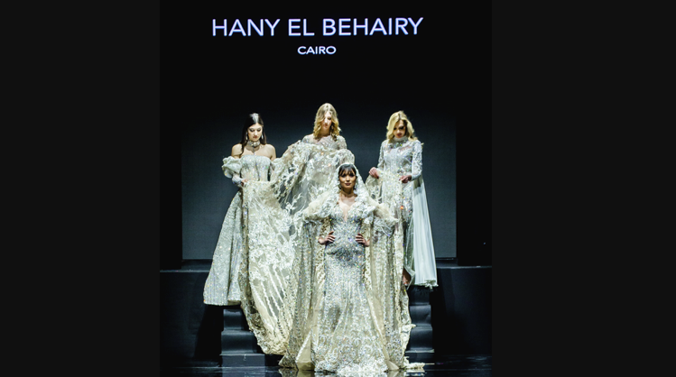 Hany El Behairy: A $ 15,000,000 dress presented in Paris at the Oriental Fashion Show