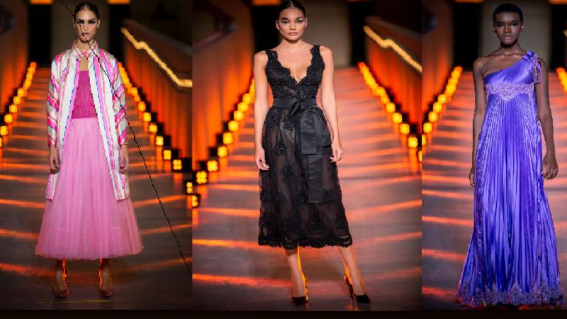 MICHELE MIGLIONICO OSPITE ALL'EVENING DRESSES SHOW