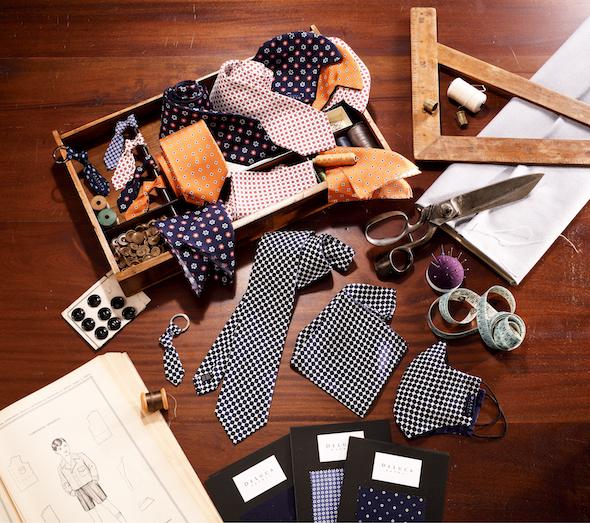 DeLuca Napoli presenta il Gentleman Set, il coordinato sartoriale con cravatta e mascherina