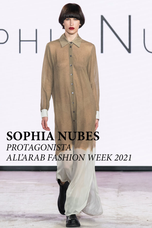 Sophia Nubes protagonista all'Arab Fashion Week 2021